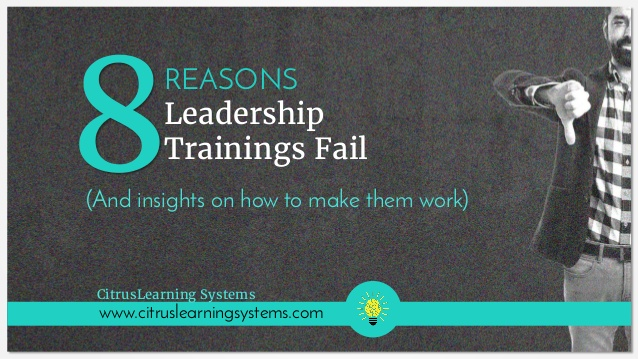 [Slideshow] Eight Reasons Leadership Training Fails